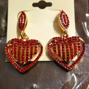 🆕️Heart on fire earrings